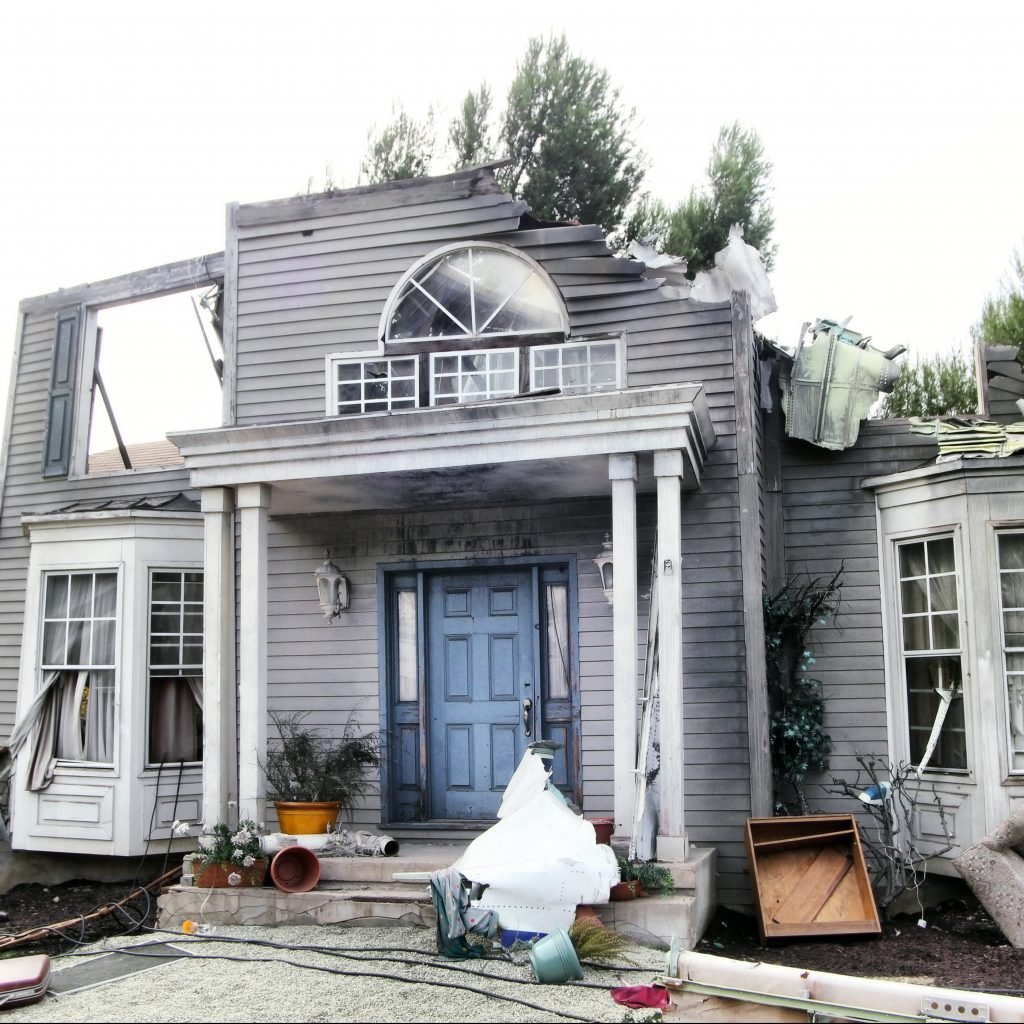 Hurricane Damaged Home