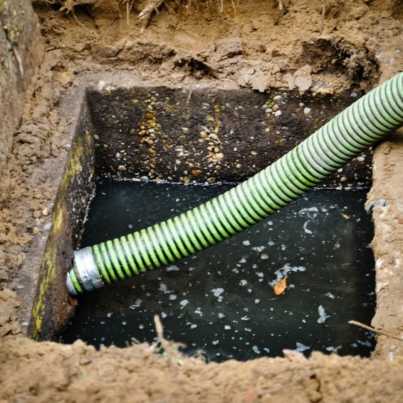 septic system in need of cleaning