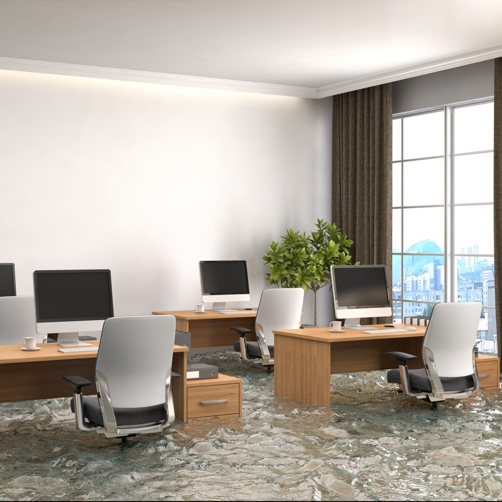 Flooded Office Space