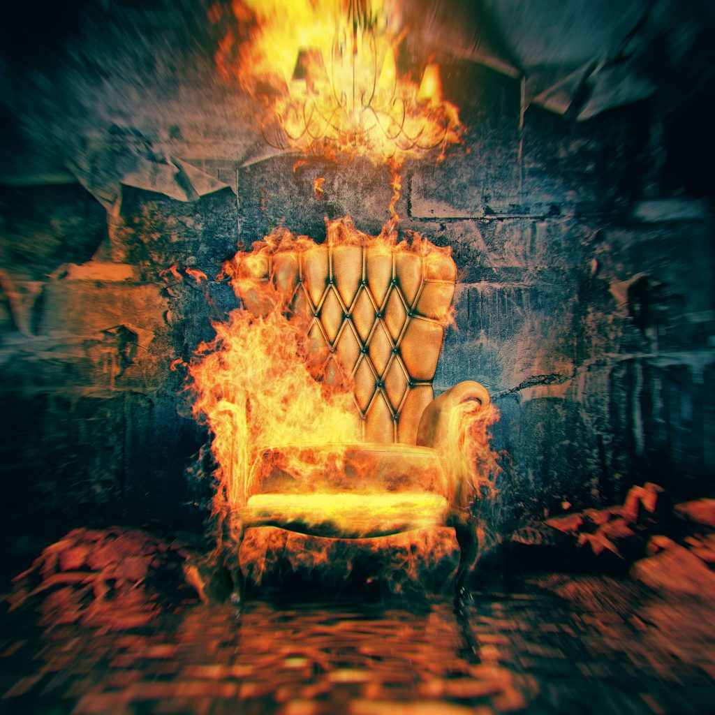 Fire Burning A Chair