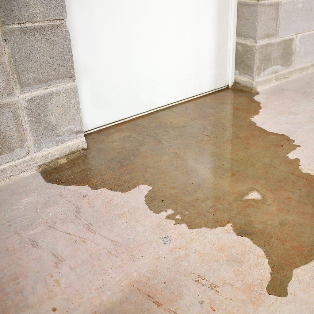 Water Leaking From Closed Door